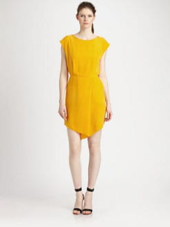 Tibi - Silk Drape Dress