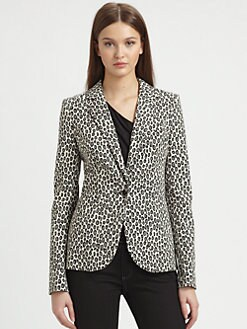 Rachel Zoe - Charlie Snow Leopard Jacket