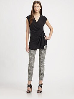 Rachel Zoe - Blakely Silk Surplice Top