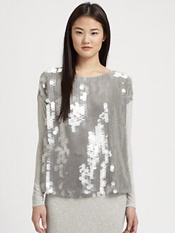 Rachel Zoe - Cori Jersey Paillette Top