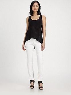 Rachel Zoe - Harley Open-Stitch Tank Sweater