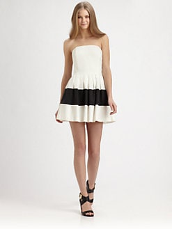 Rachel Zoe - Margaret Strapless Colorblock Dress