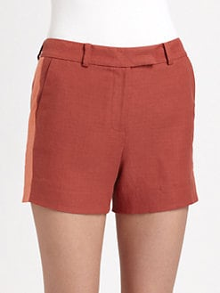 Rachel Zoe - Maya Tuxedo-Stripe Tweed Woven Shorts