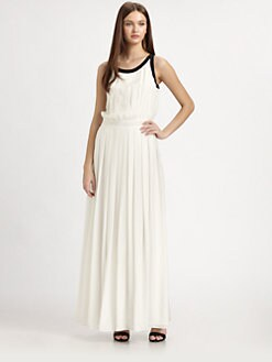 Rachel Zoe - Silk Chiffon Pleated Maxi Dress