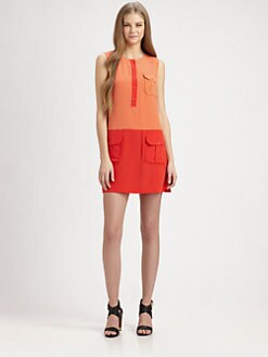 Rachel Zoe - Jonah Silk Colorblock Dress