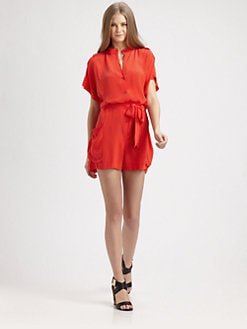 Rachel Zoe - Leland Silk Belted Romper
