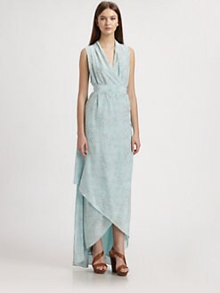Rachel Zoe - Celine Silk Printed Hi-Lo Dress