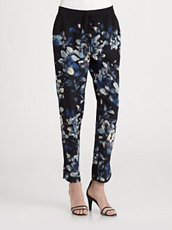 Rebecca Taylor - Hawaii Silk Track Pants