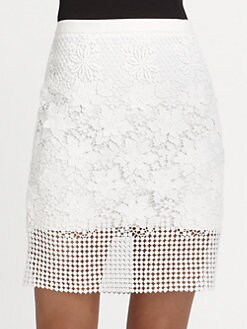 Tibi - Basai Lace Pencil Skirt