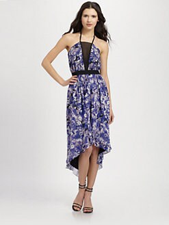 Robert Rodriguez - Floral Print Hi-Lo Dress