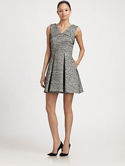 Robert Rodriguez - Raffia Tweed Fit and Flare Dress
