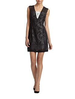 Robert Rodriguez - Illusion Silk Lace Dress
