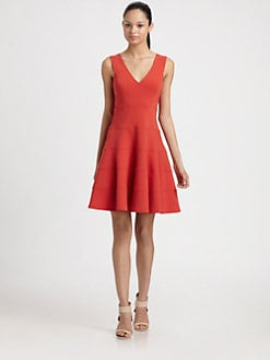Robert Rodriguez - Seamed Fit and Flare Dress