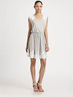 Robert Rodriguez - Lace Appliqué Jersey Dress