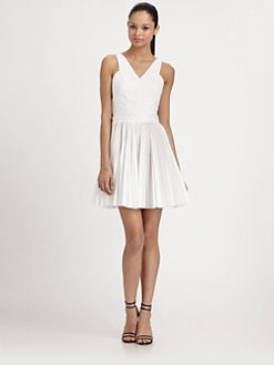 Robert Rodriguez - Pleated Cutout Dress