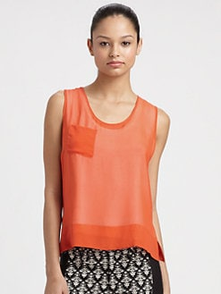 Robert Rodriguez - Sheer Silk Tank Top