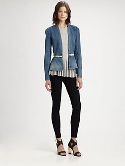 Rebecca Taylor - Convertible Denim Flare Jacket