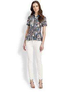 Rebecca Minkoff - Casey Silk Pintucked Shirt