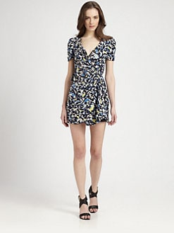 Rebecca Minkoff - Vista Silk Wrap Mini Dress