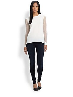 Tibi - Alexa Crepe Sweatshirt