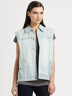 Tibi - Vintage Wash Denim Vest