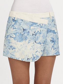 Tibi - Daisies Wrap Shorts