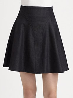 Tibi - Rigid Denim Skirt