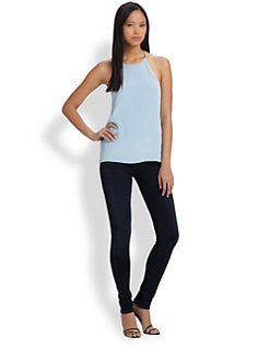 Tibi - Silk Halter Top