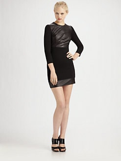 Robert Rodriguez - Leather & Knit Dress