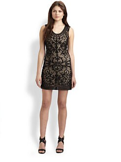 Sachin + Babi - Amalie Embroidered Silk Dress