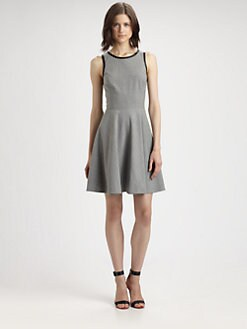 Rebecca Taylor - Leather-Trim Dress