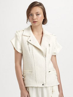 Rebecca Taylor - Tweed Moto Vest