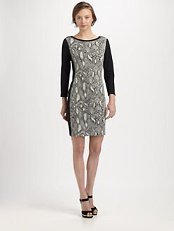 Rebecca Taylor - Python-Print Shift Dress
