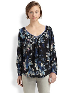 Rebecca Taylor - Hawaii Gathered V-Neck Top