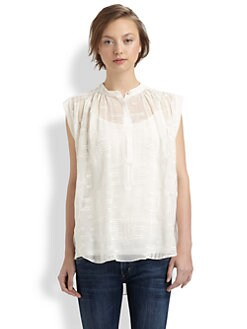 Rebecca Taylor - Embroidered Sleeveless Top
