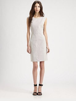 Rebecca Taylor - Leather Snake-Embossed Sheath Dress