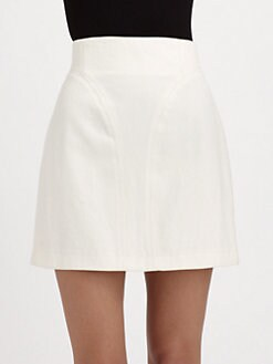 Tibi - Denim Panel Skirt