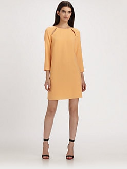 Tibi - Allison Cutout Crepe Dress