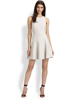 Tibi - Stretch Linen Flare Dress