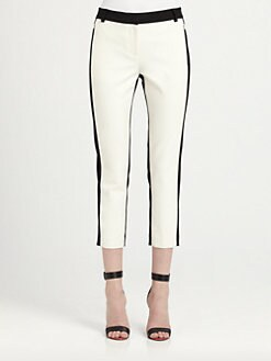 Tibi - Colorblock Cropped Pants