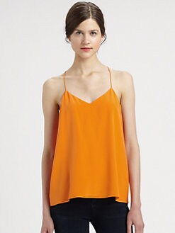 Tibi - Silk Crepe-De-Chine Camisole
