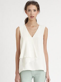 Tibi - Silk Crepe-De-Chine Top
