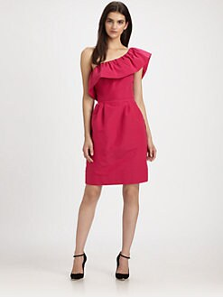 Rebecca Taylor - Silk One-Shoulder Ruffled Dress