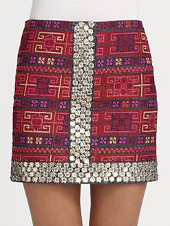Sachin + Babi - Mallory Embroidered Cotton Skirt