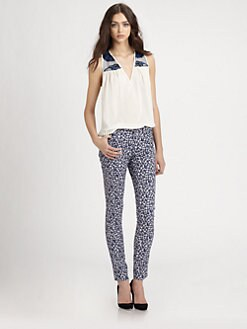 Sachin + Babi - Sage Floral Print Skinny Jeans