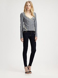 Rebecca Minkoff - San Antonio Striped Jacket