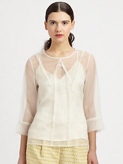 Kara Laricks - Silk Collared Blouse