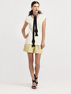 Kara Laricks - Collar Tie & Knit Tee