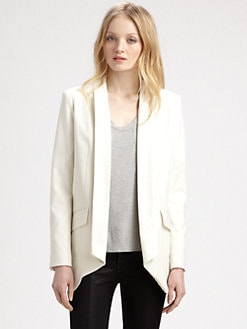 Mason by Michelle Mason - Open Front Shawl Collar Jacket