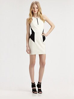 Mason by Michelle Mason - Zip-Front Peplum Dress